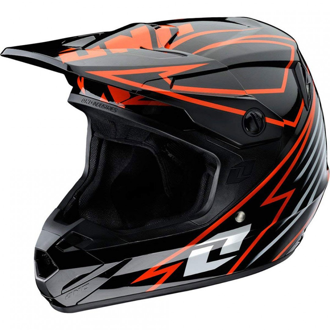 One Industries Motocross/Enduro helmet Atom Bolt Black/Orange 80092-145