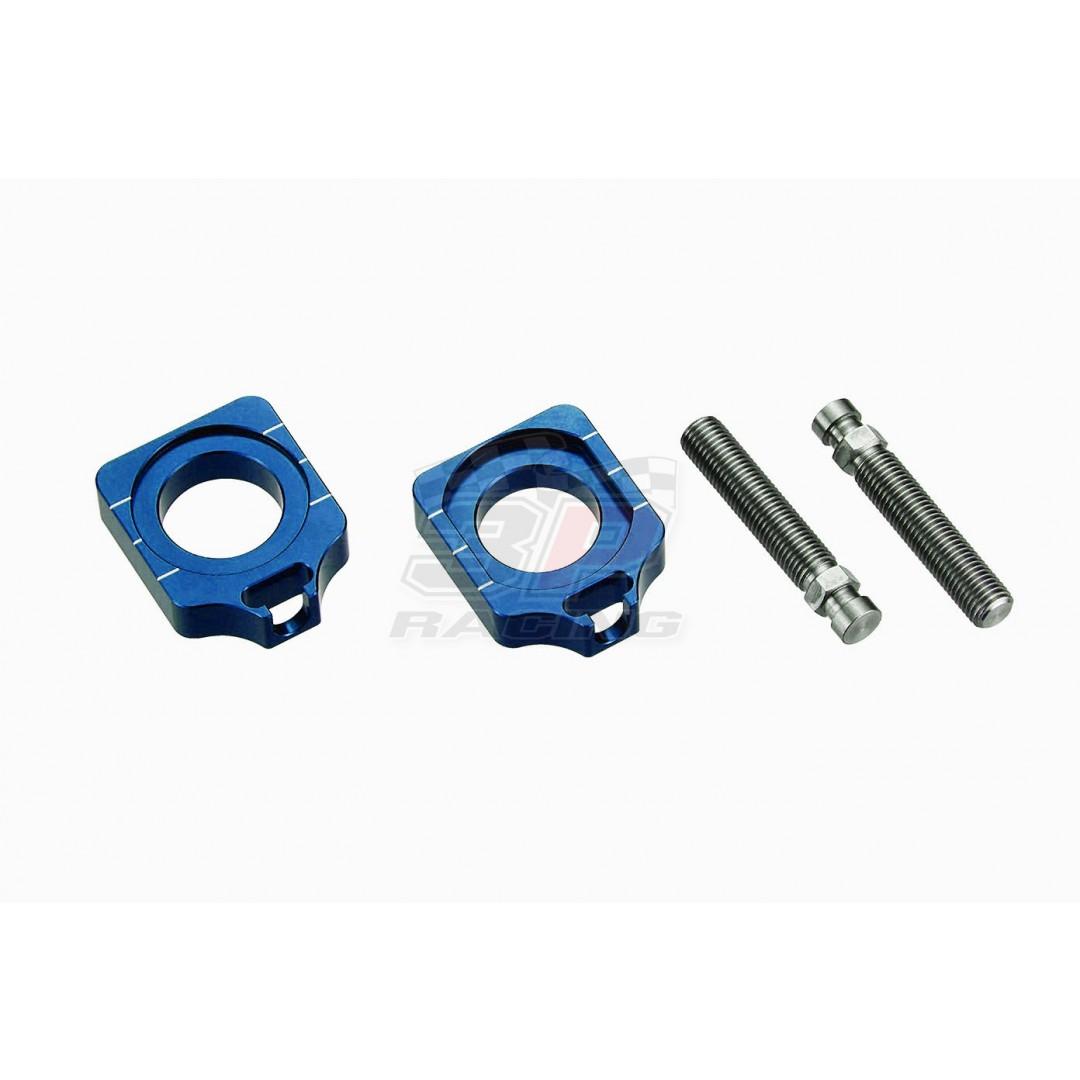 Accel CNC Dirt bike Blue chain tensioners - adjusters axle blocks AC-AB-25-BL for Suzuki RM-Z 250 RMZ250 RM-Z250, RM-Z 450 RMZ450 RM-Z450 2004-2019, RMX450Z RMX450Z 2010-2019. Kawasaki KX125 KX250 KX250F KXF250 KX450F KXF450 KLX450R KLX450