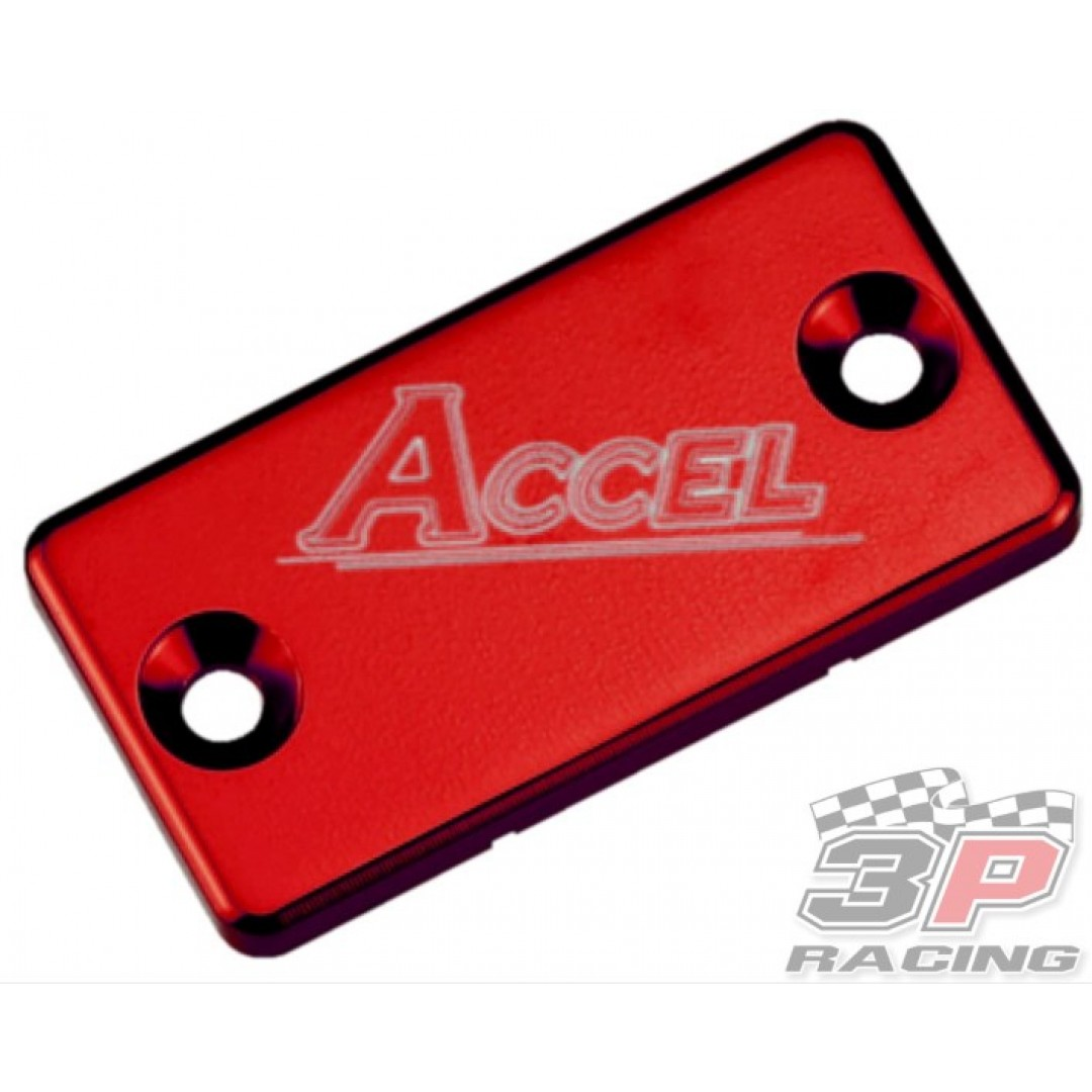 Accel Front brake reservoir cover Red AC-FBC-02-RED Suzuki, Kawasaki, Yamaha