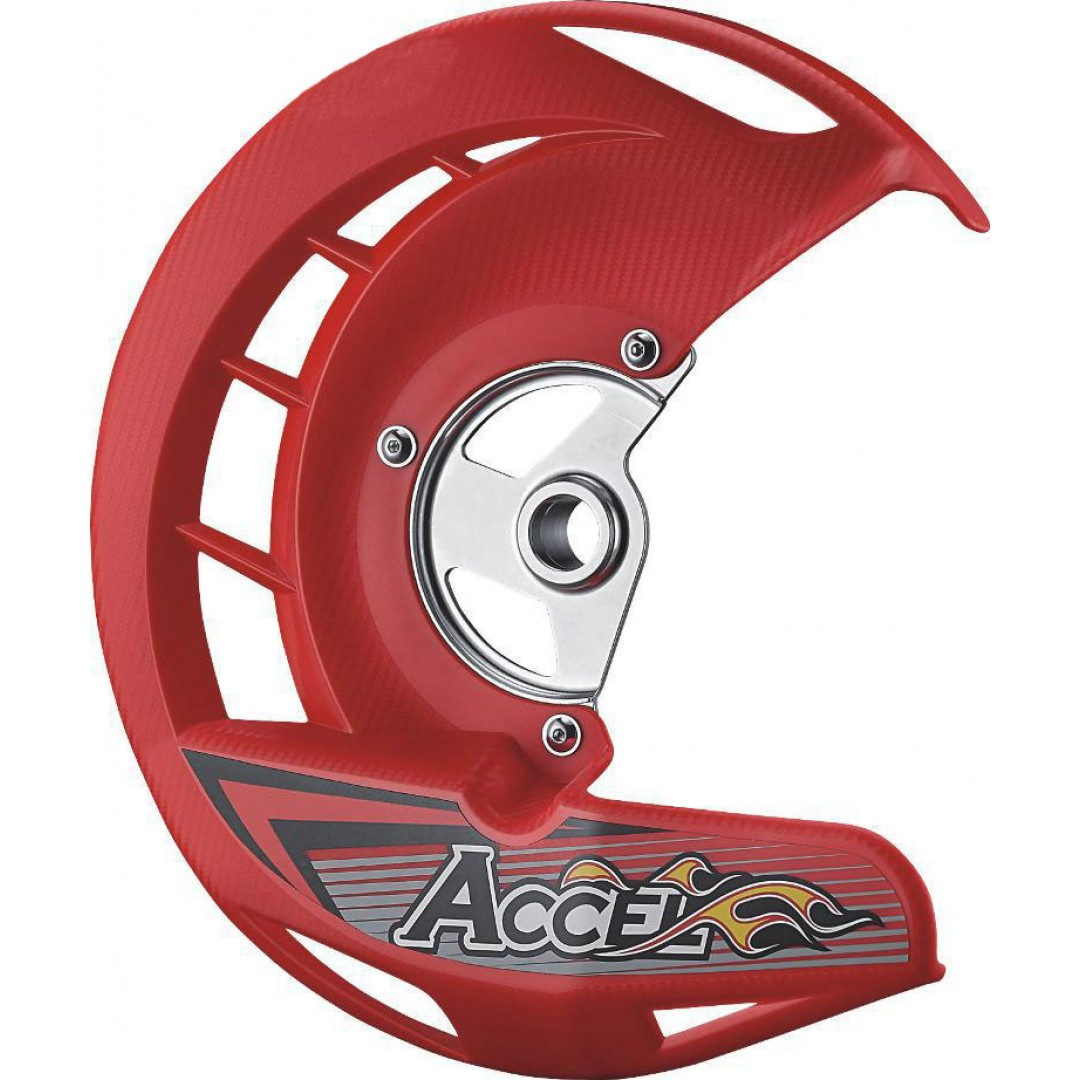 Accel front brake disc guard Red AC-FDG-01-RED Honda CR 125/250, CRF 250R/X, CRF 450R/X