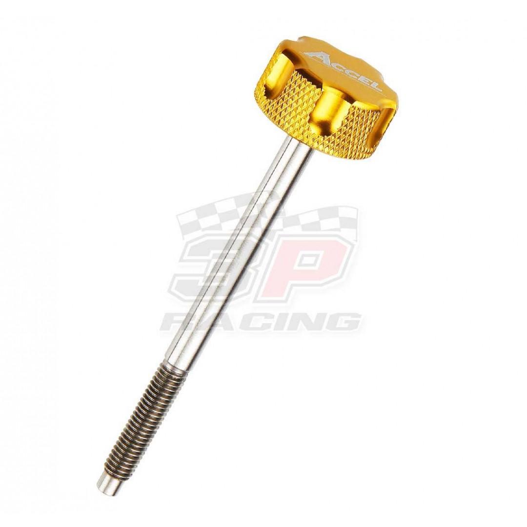 Accel air filter bolt Gold AC-AFB-03-GOLD Honda CR 125/250/500, Yamaha YZ85, YFZ450R/X, Raptor 700, Kawasaki KX 65/80/85/125/250, KXF 250/450, Suzuki RM/RMZ