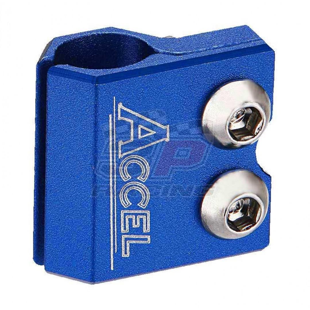 Accel brake line clamp - Blue AC-BLC-02-BLUE Yamaha YZ 80/85/125/250, YZF/WRF 250/400/426/450, TTR 250, TT/IT, Kawasaki KX 65/80/85/100/125/250
