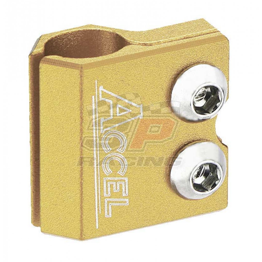 Accel brake line clamp - Gold AC-BLC-02-GOLD Yamaha YZ 80/85/125/250, YZF/WRF 250/400/426/450, TTR 250, TT/IT, Kawasaki KX 65/80/85/100/125/250