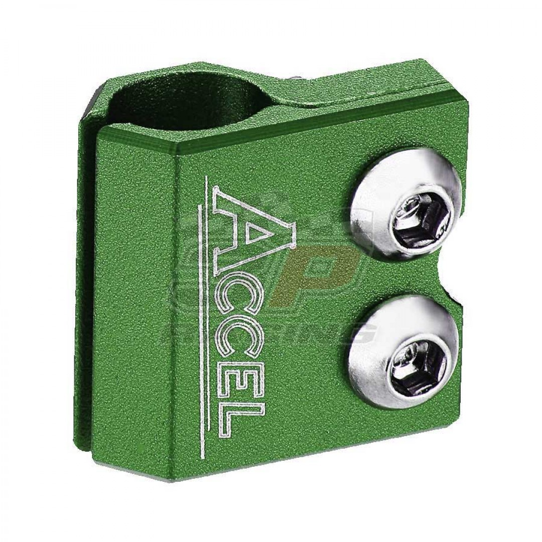 Accel brake line clamp - Green AC-BLC-02-GR Kawasaki KX 65/80/85/100/125/250, Yamaha YZ 80/85/125/250/490, YZF/WRF 250/400/426/450, TTR 250