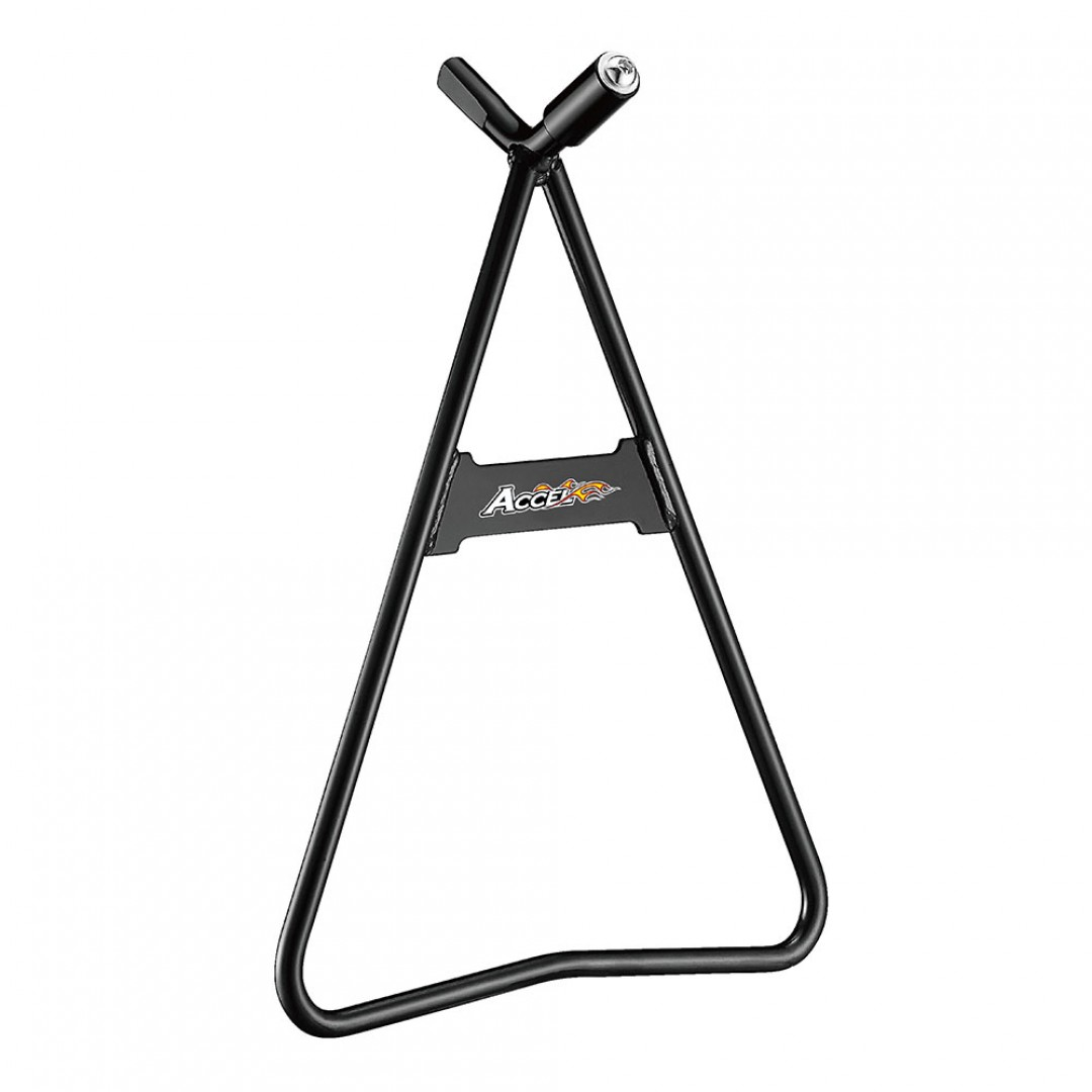 Accel dirt bike steel triangle stand support with 36.5cm height. Keeps your bike standing, durable from high quality steel. Universal for all motocross, off-road motorcycles for rear axles with inner diameter 11mm, 14.5mm, 18mm. P/N: AC-STS-01