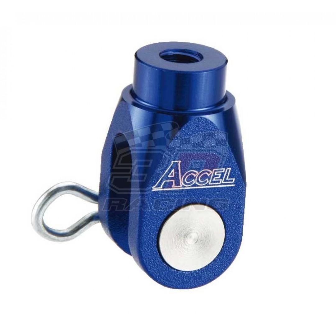 Accel brake clevis billet Blue AC-BBC-02-BLUE Yamaha YZ 125250, YZF 250450, YZF 250X450X, WRF 250450, WR 250RX, Suzuki RMZ 250, RMZ 450, RMX 450Z
