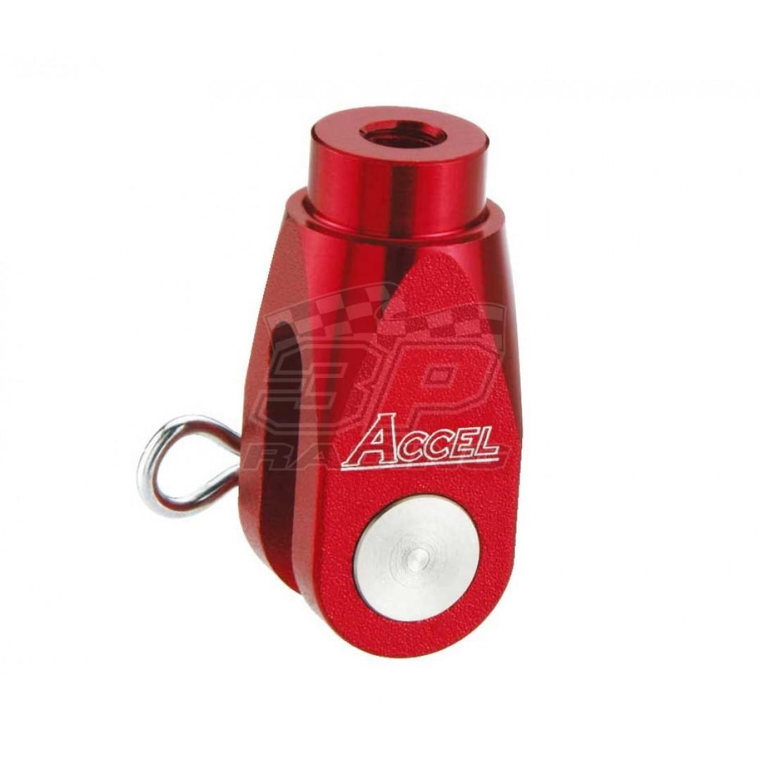 Accel brake clevis billet Red AC-BBC-01-RED Honda CR 125, CR 250, CRF 150R, CRF 250R, CRF 250X, CRF 450R, CRF 450X