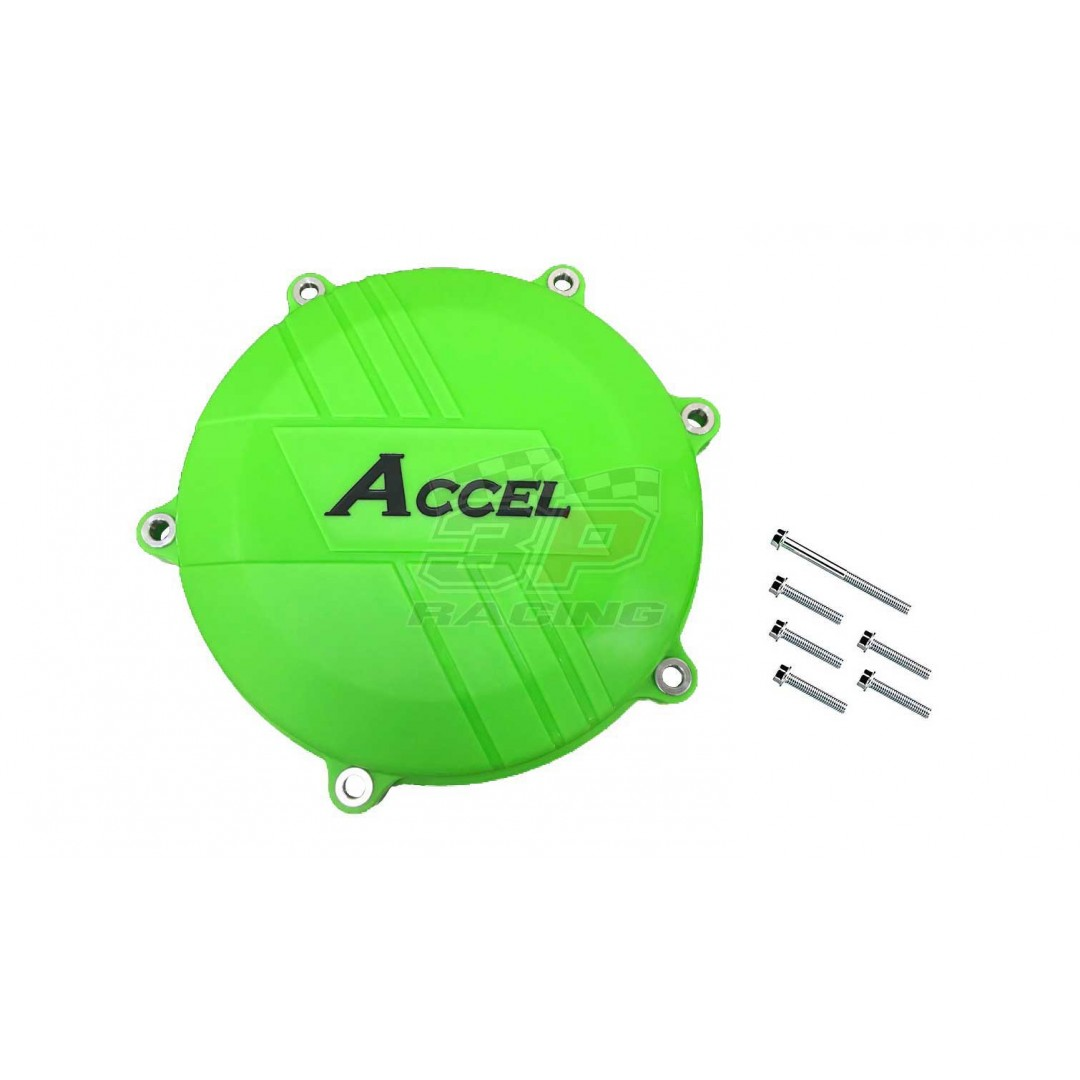 Accel clutch cover guard Green AC-CCP-303-GR Kawasaki KXF 450 2016-2018