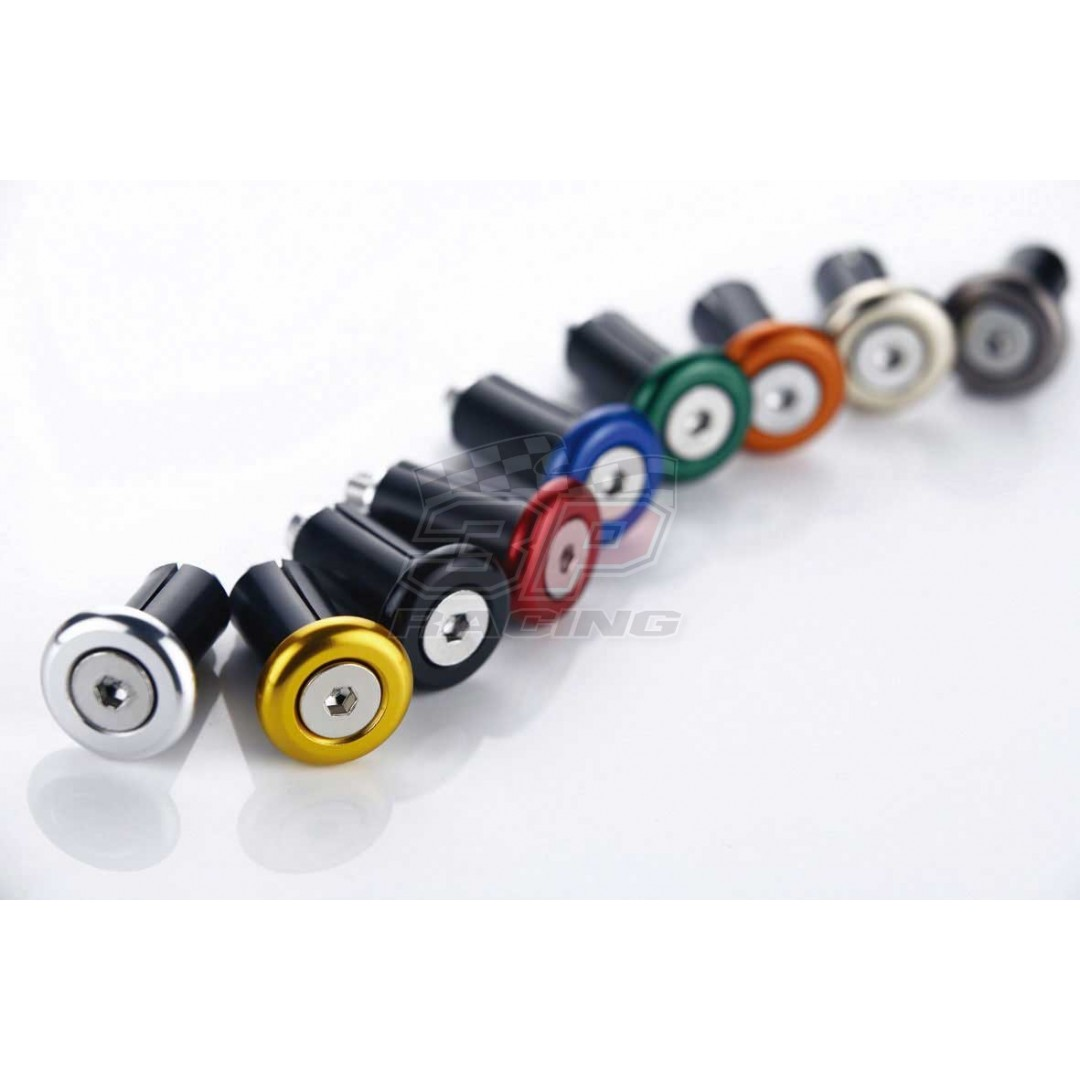 Accel bar end caps Black / Blue / Green / Orange / Red AC-BEC-06 Universal