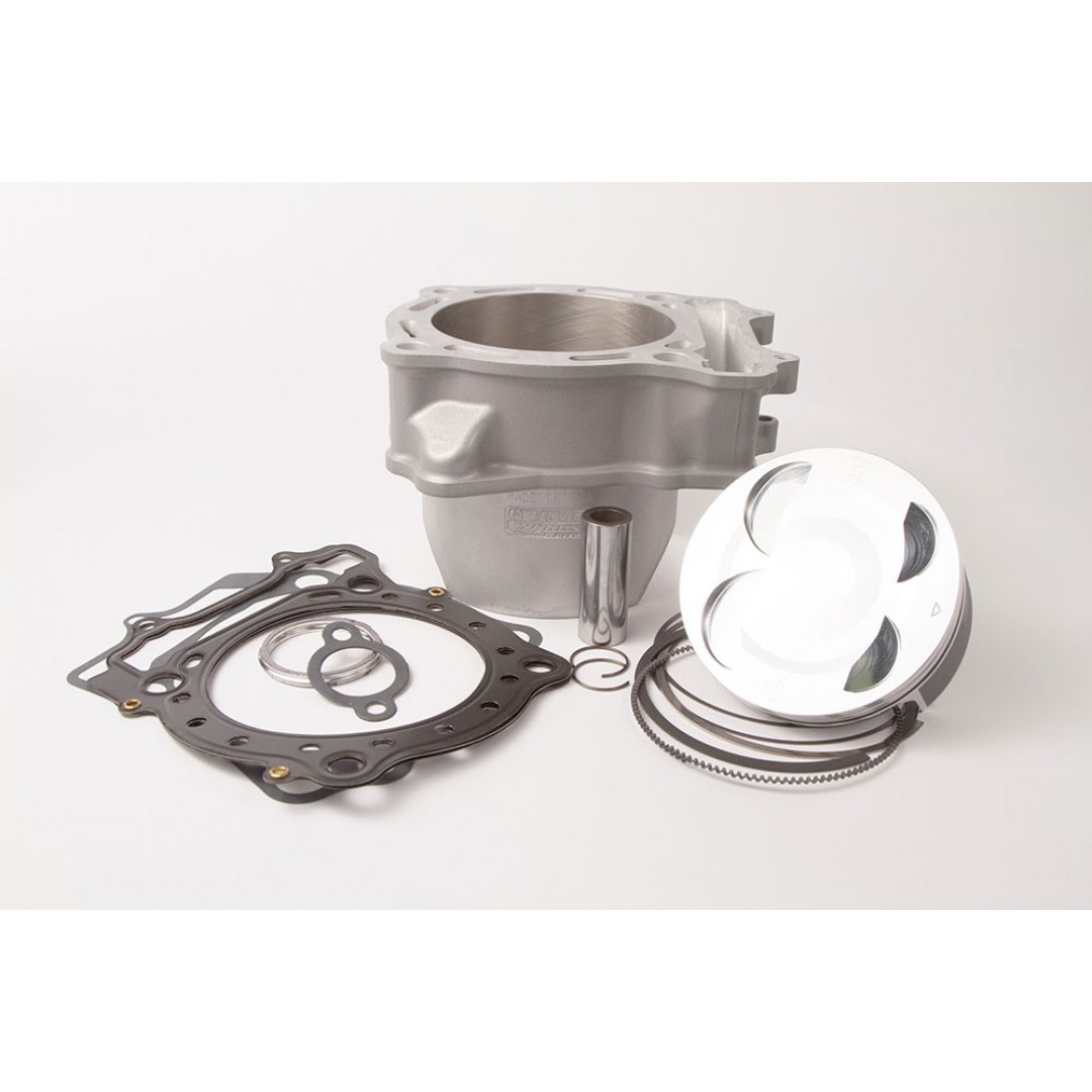 CylinderWorks 41002-K01 BigBore 474cc +4mm Nikasil cylinder kit with VerteX overbore piston and top end gasket set with 98.00mm diameter for Suzuki ATV LTR450 LT-R450 LTR 450 2006 2007 2008 2009. Replaces Suzuki OEM cylinder 11211-45G00-0F0