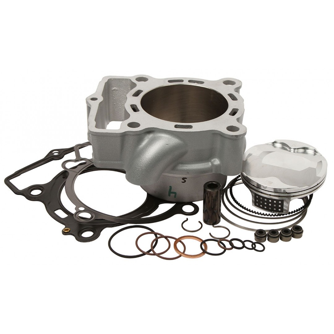 CylinderWorks 51004-K01 BigBore 270cc +3mm Nikasil cylinder kit with VerteX overbore piston 13.9:1 and top end gasket set with 81.00mm diameter for KTM SXF250 SX-F250 SXF 250 EXCF250 EXC-F250 EXCF 250, Husqvarna FE250 FC250 2013 2014 2015 2016. 7773003800