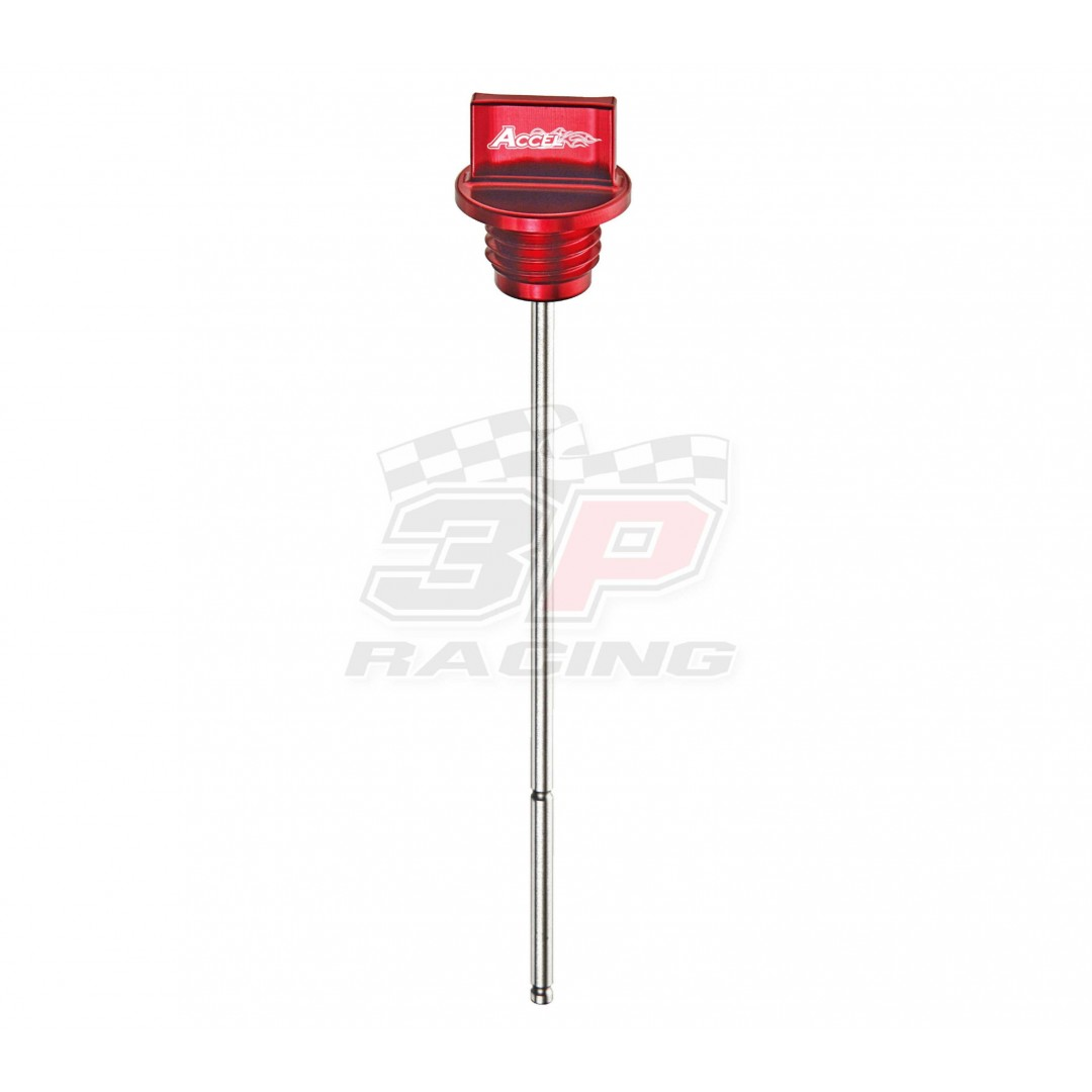 Accel oil fill plug & dip stick Red AC-DIP-01-RED Honda CRF 250R 2010-2013
