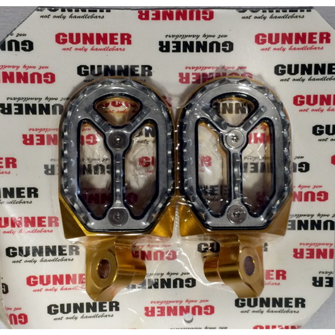 FM Racing/Gunner removable ergal footpegs Gold EL54520211DS Suzuki RMZ 250 2010-2018, RMZ 450 2008-2018, RMX 450Z 2010-2018
