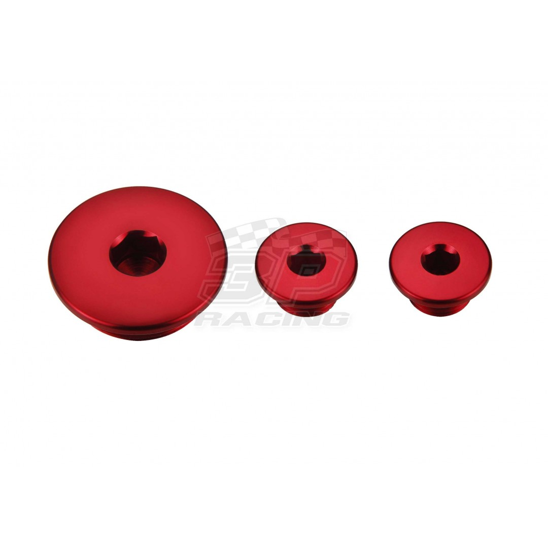 Accel engine plug kit Red AC-ENP-01-RED Honda CRF 250R 2004-2009
