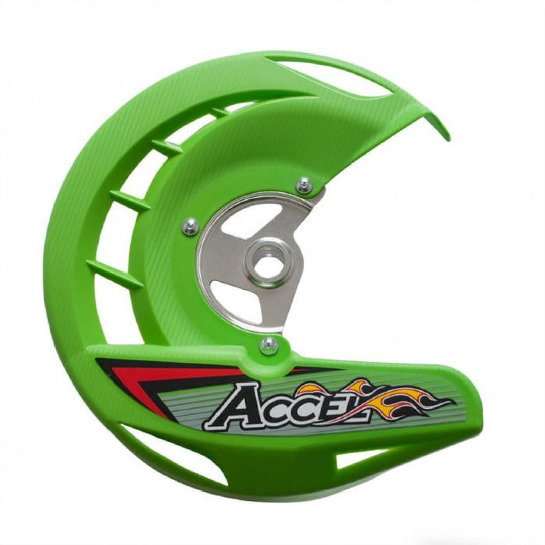 Accel front brake disc guard Green AC-FDG-03-GR Kawasaki KX 125/250, KXF 250/450, KLX 450