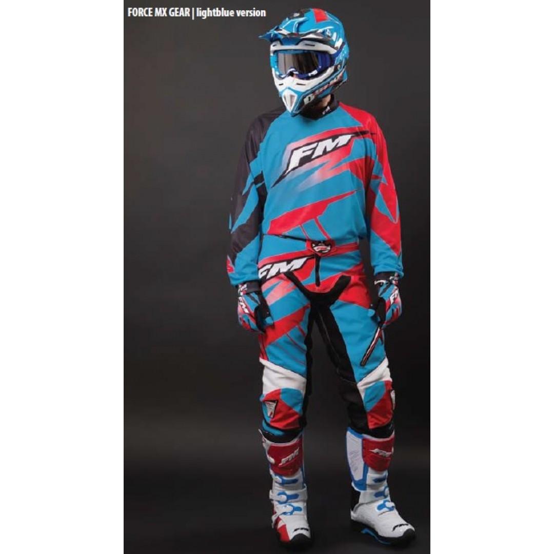 FM Racing MX pants Force x22 Light Blue/Red PA/006/22