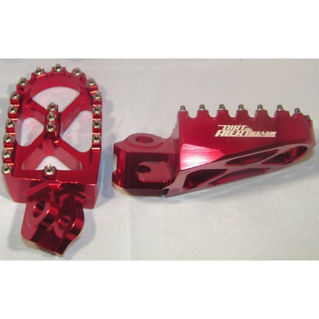 Motrix aluminium footpegs MO-FR-546-A-RED Suzuki RMZ 250 RMZ 450 RMX 450Z