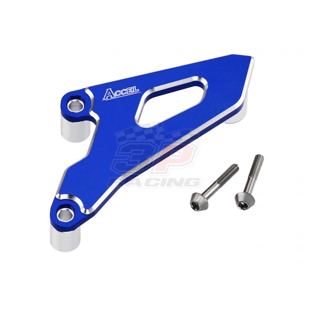 Accel front sprocket cover Blue AC-FSC-02-BL Honda CR 250, CRF 250R, CRF 250X, CRF 450R CR250R CR250 2002-2007, CRF250 CRF250R 2004-2009, CRF250X 2004-2017, CRF450 CRF450R 2008