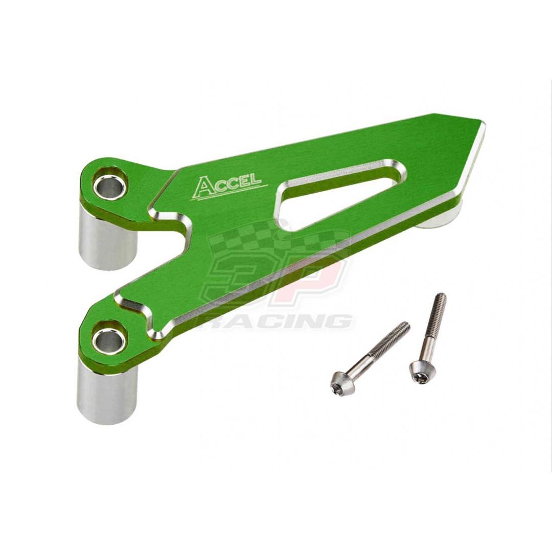 Accel front sprocket cover Green AC-FSC-09-GR Kawasaki KX 125, KX 250, KXF 250, KXF 450 Kawasaki KX125 2003-2008, KX250 2005-2008, KX250F KXF250 2017-2020, KX450F KXF450 2006-2018