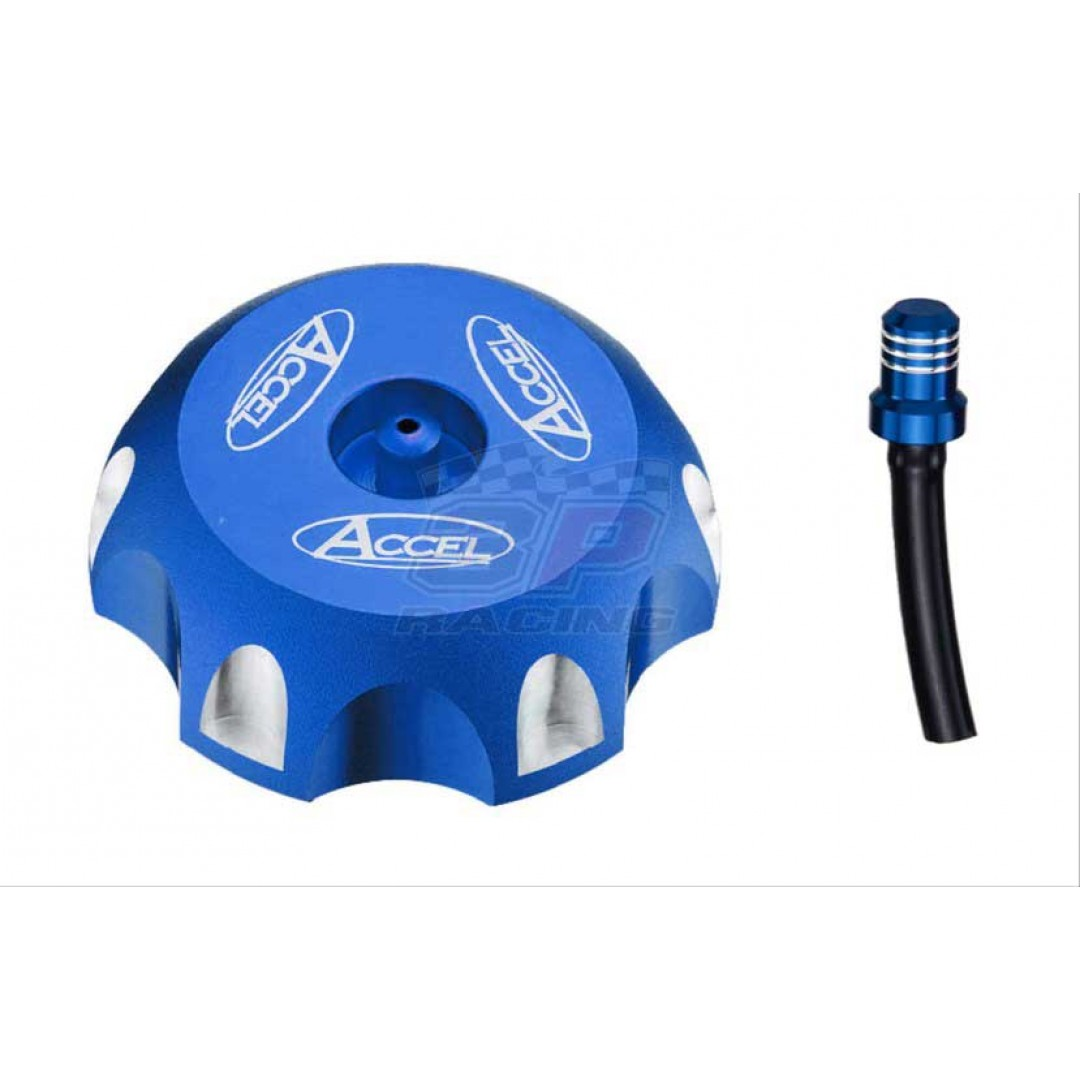 Accel gas tank cap Blue AC-GTC-01-BL Honda CRF 250/450 R/X, XR 200 250 600 650, TM EN MX 125 144 250 300 450 530
