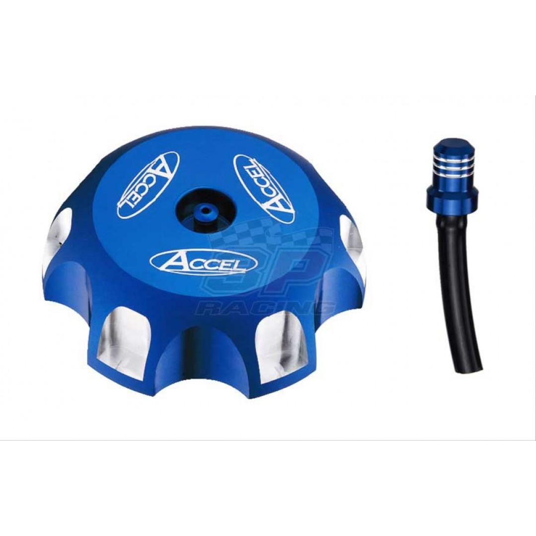 Accel gas tank cap Blue AC-GTC-07-BL Suzuki RMZ 250, DRZ 125 400, LT-R 450, LT-Z 250 400, LT-A LT-F 250 400 500, Kawasaki KLX 125 400R, KFX 400