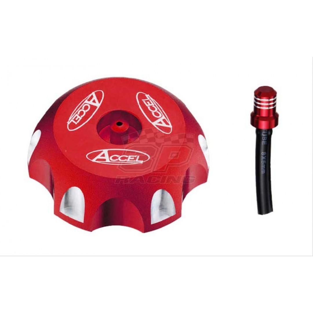 Accel gas tank cap Red AC-GTC-20-RD Honda CR 125 250, CRF 150F 230F, 51048-0014 Kawasaki KX, 44210-37F00 Suzuki RM RMZ, Yamaha TTR125, Raptor 700