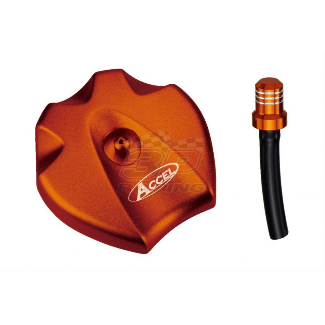 Accel gas tank cap Orange AC-GTC-09-OR KTM 78007008044X4 78107008044X4 SX EXC 125 144 150 200 250 300 400 450, SXF EXCF 250 350 450 500, Freeride 250 350, ATV XC 450 525, Husaberg Husqvarna TE FE FX TX