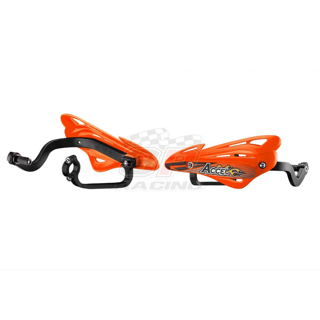 Accel Universal Handguards alloy & shields Orange AC-HGS-10-OR Universal for 22.2mm, 28.6mm and 31.8mm bars