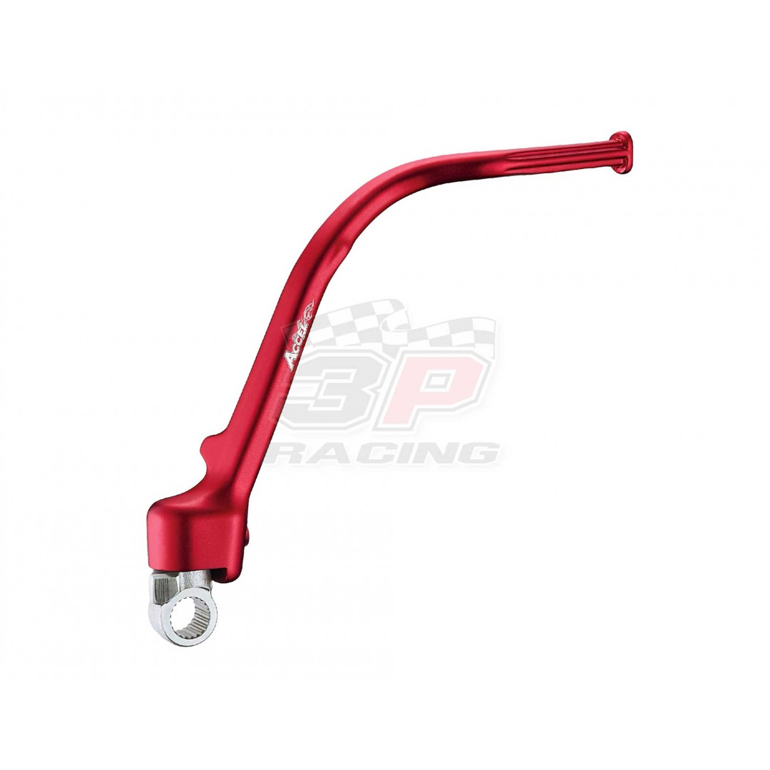 Accel KST-101 Forged CNC Red ARM ASSY., kick start lever for Honda CRF250 CRF250R CRF 250 2010 2011 2012 2013 2014 2015 2016 2017. Kickstarter crank Replacement of Honda OEM part 28300-KRN-306 28300-KRN-305. P/N: AC-KST-101-RD