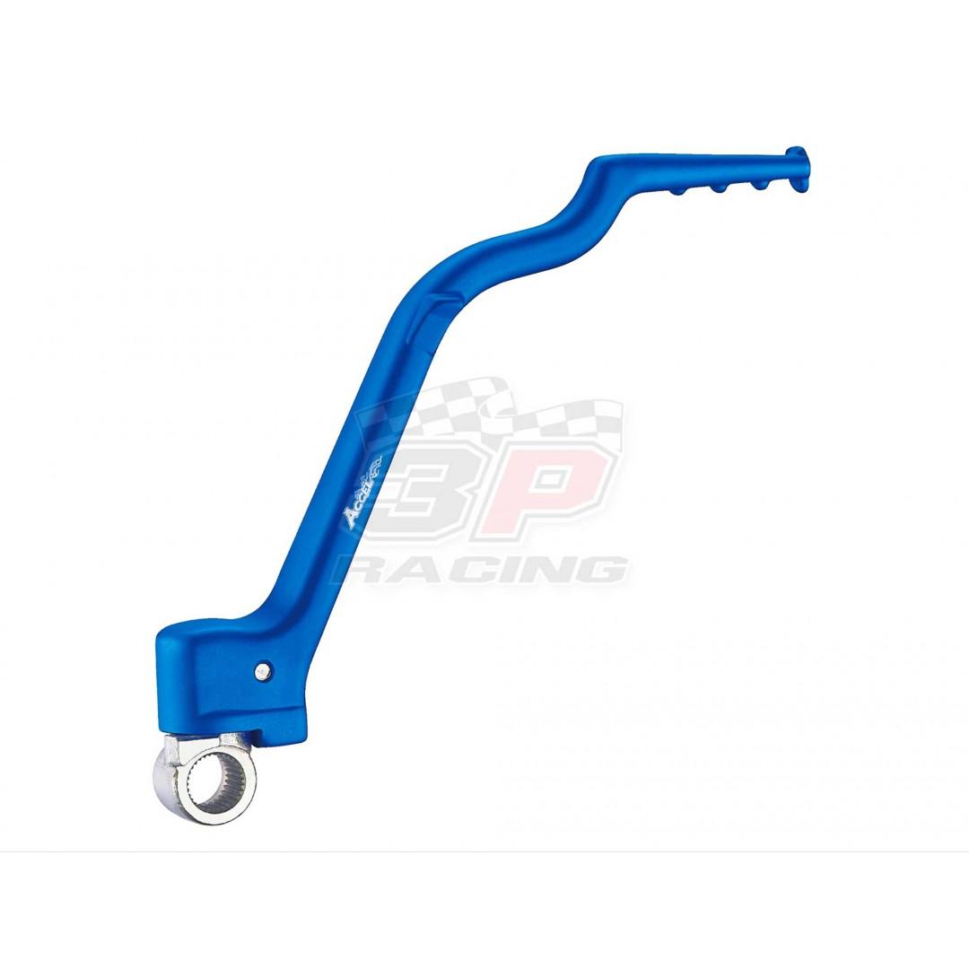 Accel KST-204 CNC Forged Blue kick start crank lever for Yamaha YZ250 2002-2020, YZ250X 2016-2020, YZ250F YZ 250F YZF250 2001-2005, WR250F WR 250F WRF250 2001-2006 YZ450F YZ 450F YZF450 WR450F WR 450F WRF450. Kickstarter OEM 5NX-15620-20-00, 5NL-15620-10-