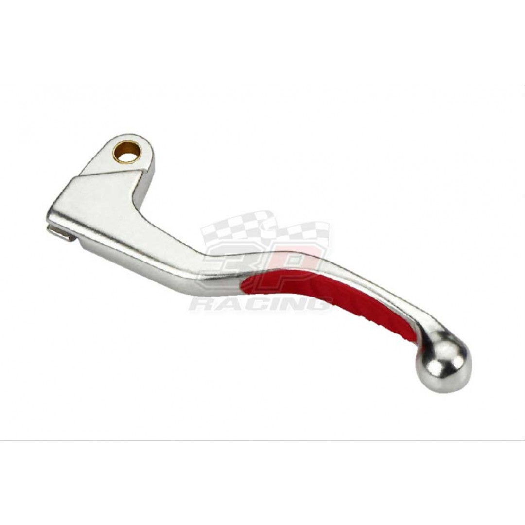 Accel clutch lever with red rubber grip AC-LSR-1727-RD OEM 53175-KPT-305, 53175-KCE-670, 53175-ML3-790 Honda CR 125, CR 250, CR 500, CRF 150R, CRF 450R, XR 250R, XR 400R, XR 650R