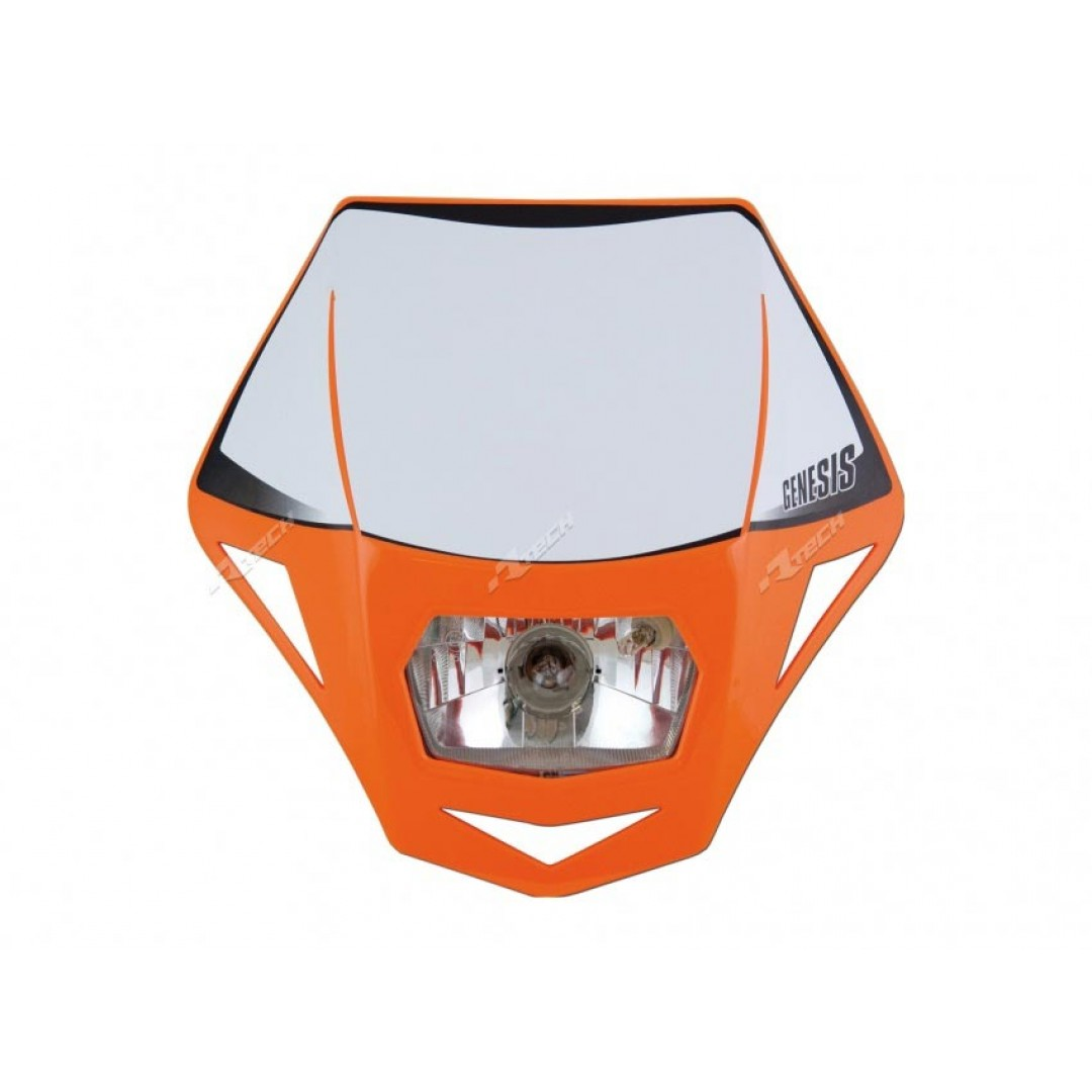 Racetech universal headlight R-MASKAR00006 Orange