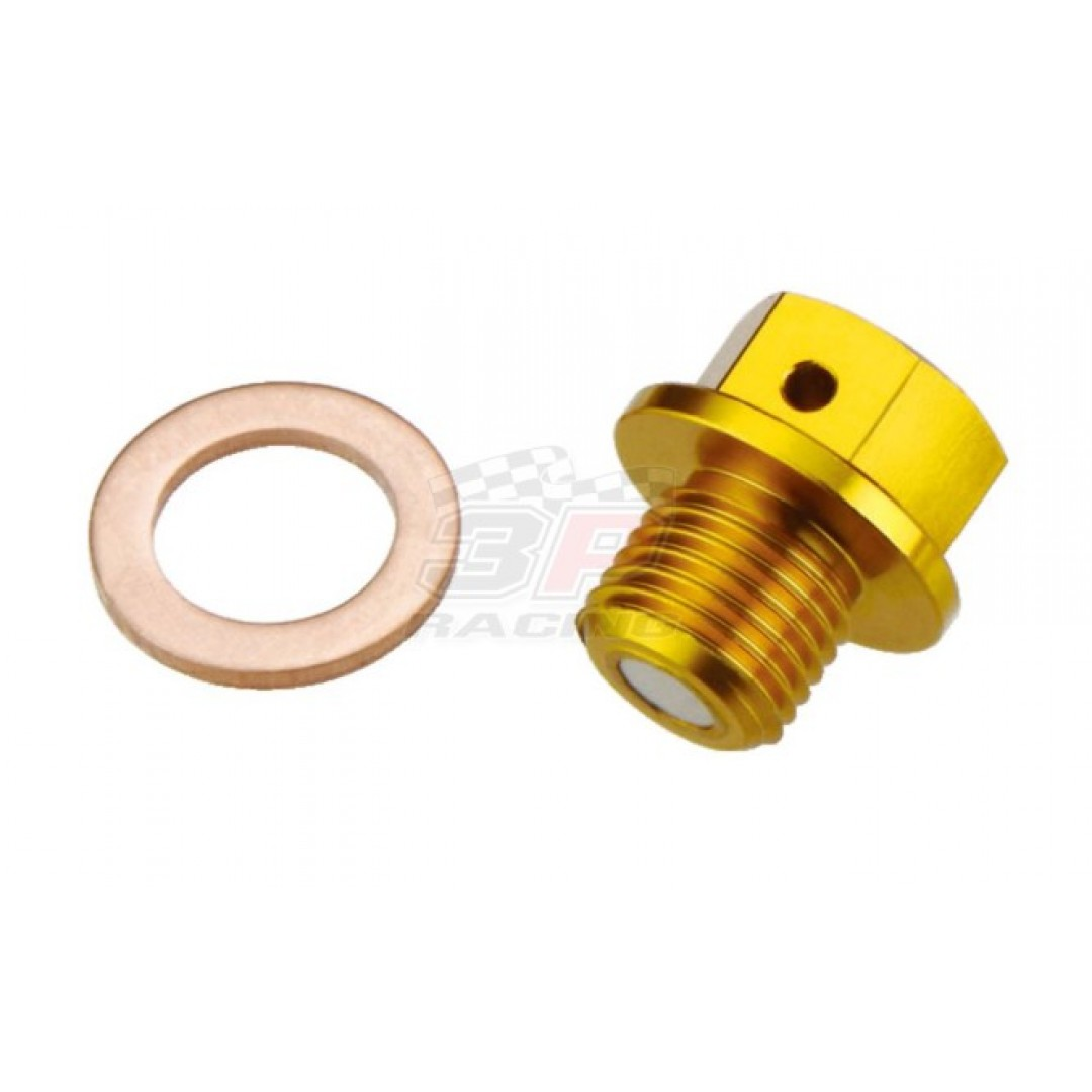 Accel magnetic oil drain plug Gold AC-MDP-04-GOLD 09247-12006 09247-12012 09247-12106 Suzuki RM 125, RM 250, RMZ 250, DRZ 70, DRZ 250, DRZ 400, ATV Suzuki LTZ 250, LTZ 400, LTA 450 RM125 RM250 RMZ250 RM-Z250, DRZ70 DR-Z250 DRZ250 DR-Z400 DRZ400, ATV Suzuk