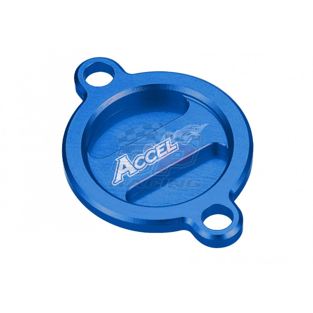 Accel CNC Blue oil filter cover Husaberg Husqvarna OEM 77338041200 fits 2013 2014-2019 FE250 FE350 FE450 FE501 FC250 FC350 FC450 FS450 FX350 FX450, KTM SX-F EXC-F EXC-R XC-F SM-R 250-530, Freeride250 350, AC-OFC-02-BL Husaberg Husqvarna 2014-2019 FE 250,