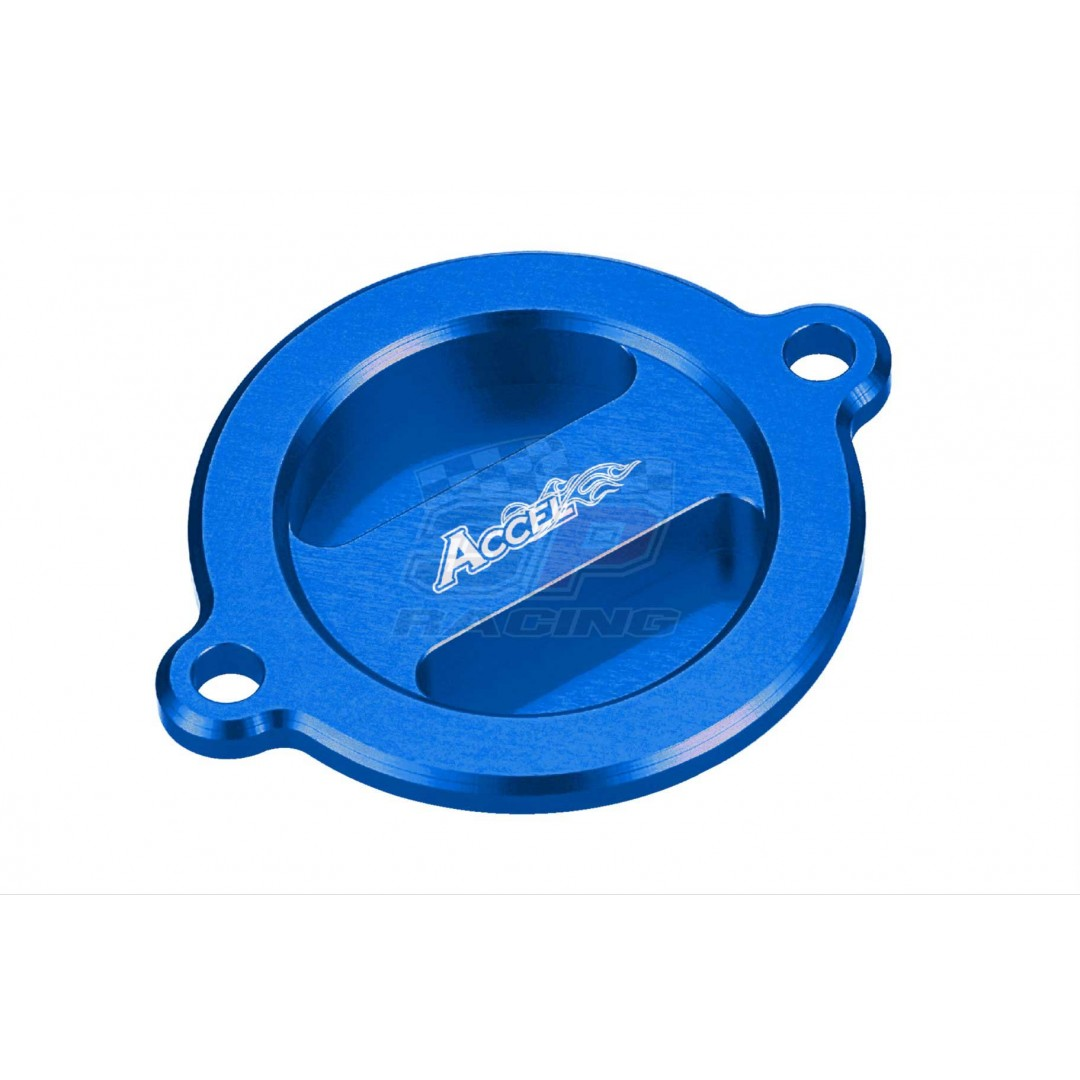 Accel CNC Blue oil filter cover Husaberg Husqvarna OEM 75038041200 for 2009-2014 Husaberg and 2014-2016 Husqvarna FE390 FE450 FE501 FE570 FS450 FS570 FX450 FC450, 701 Supermoto Enduro 2016-2019, KTM LC4 690 790, Adventure 990 1050 190 1190, SX-F EXC, AC-O