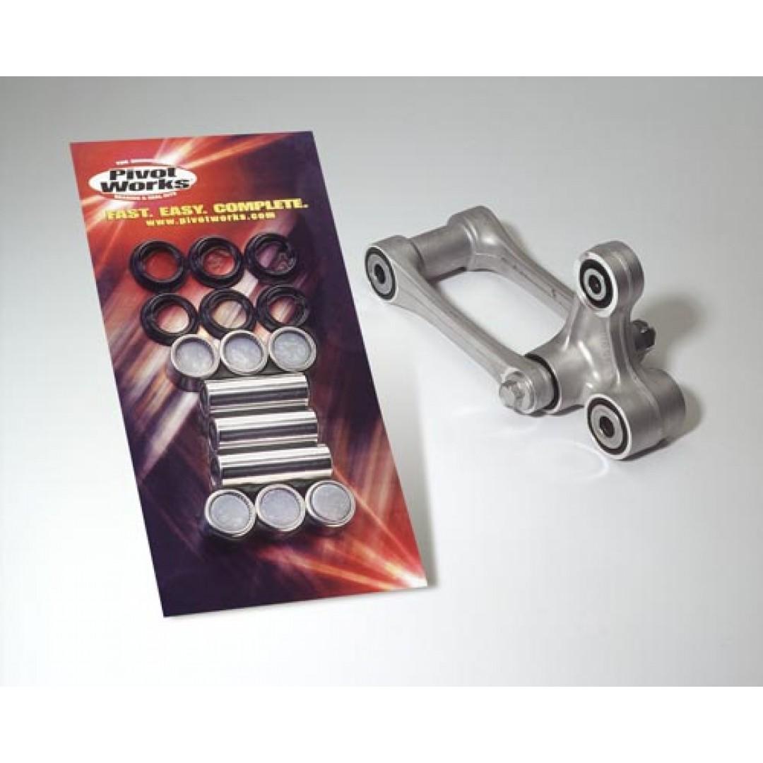 Pivot Works linkage rebuild kit with lower shock bearing PWLK-K18-000 Kawasaki KDX 200, KDX 250, KX 125, KX 250, KX 500