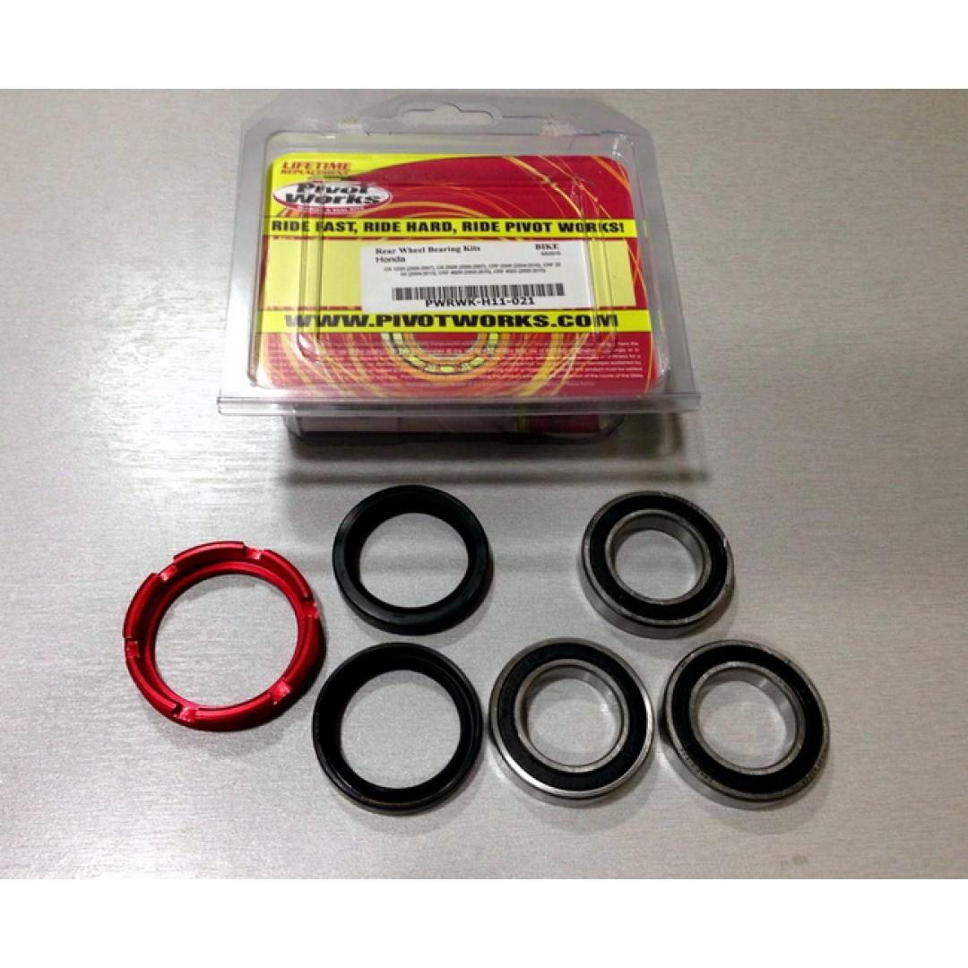 Pivot Works rear wheel rebuild kit PWRWK-H11-021 Honda CR 125, CR 250, CRF 250R, CRF 250X, CRF 450R, CRF 450X