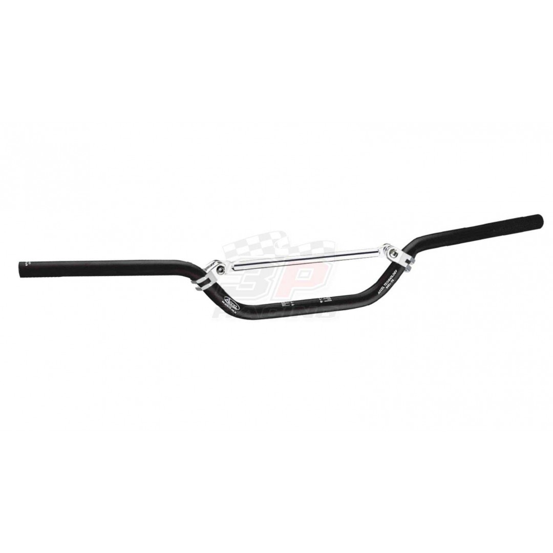 Accel mini handlebar 22.2mm - Black. CNC machined. Made from AL6061-T6 alloy. Anodized. P/N: AC-SH-01-6061K