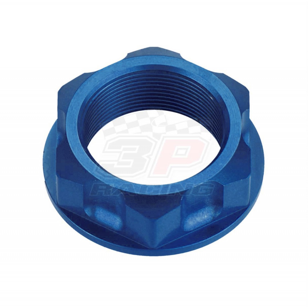 Accel CNC Anodized Blue steering stem nut AC-SNB-03-BL for Yamaha XMax 300, XG250 Tricker, XT250, YZ65 YZ80 YZ85, TTR110 TTR125 TTR230, XVZ12 XVZ13, Suzuki RM85 DRZ125 DR-Z125,Kawasaki KX KDX KLX KLR650 VN900. Yamaha OEM 90179-22412-00, 90179-22025-00, 90
