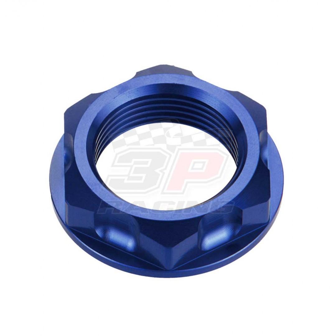 Accel CNC Anodized Blue steering stem nut AC-SNB-04-BL for Yamaha YZ125 TTR250 TT-R250 WR250R WR250X XTZ12 SuperTenere, Suzuki RM125 RM250 RMX250 RMZ250 DRZ250 DRZ400 GSXR600 GSXR750. Yamaha OEM 90179-24542-00, Suzuki OEM 51353-27C00