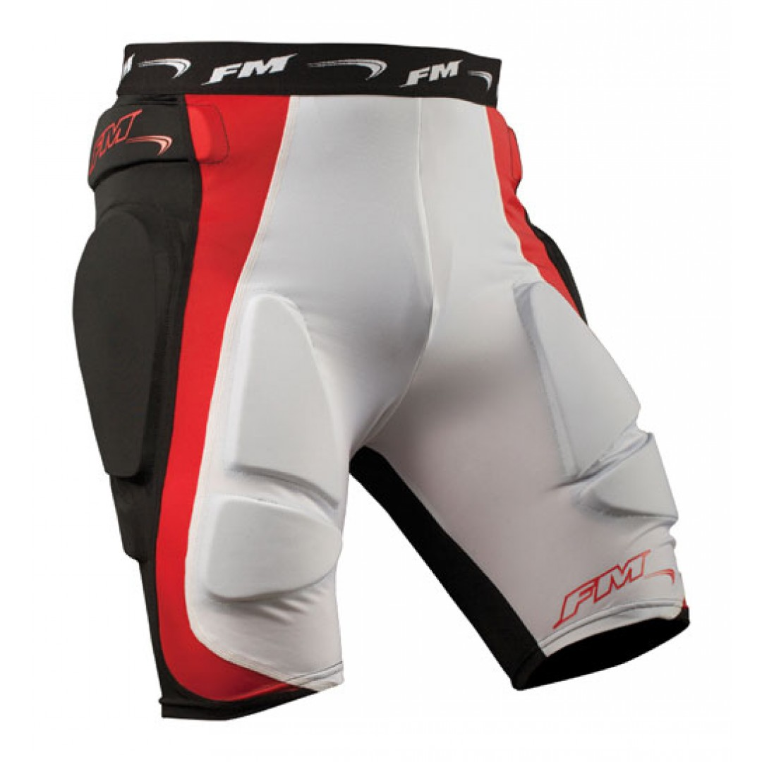 FM Racing first layer protection short Spongy Black/Red/White MX/SPONGY