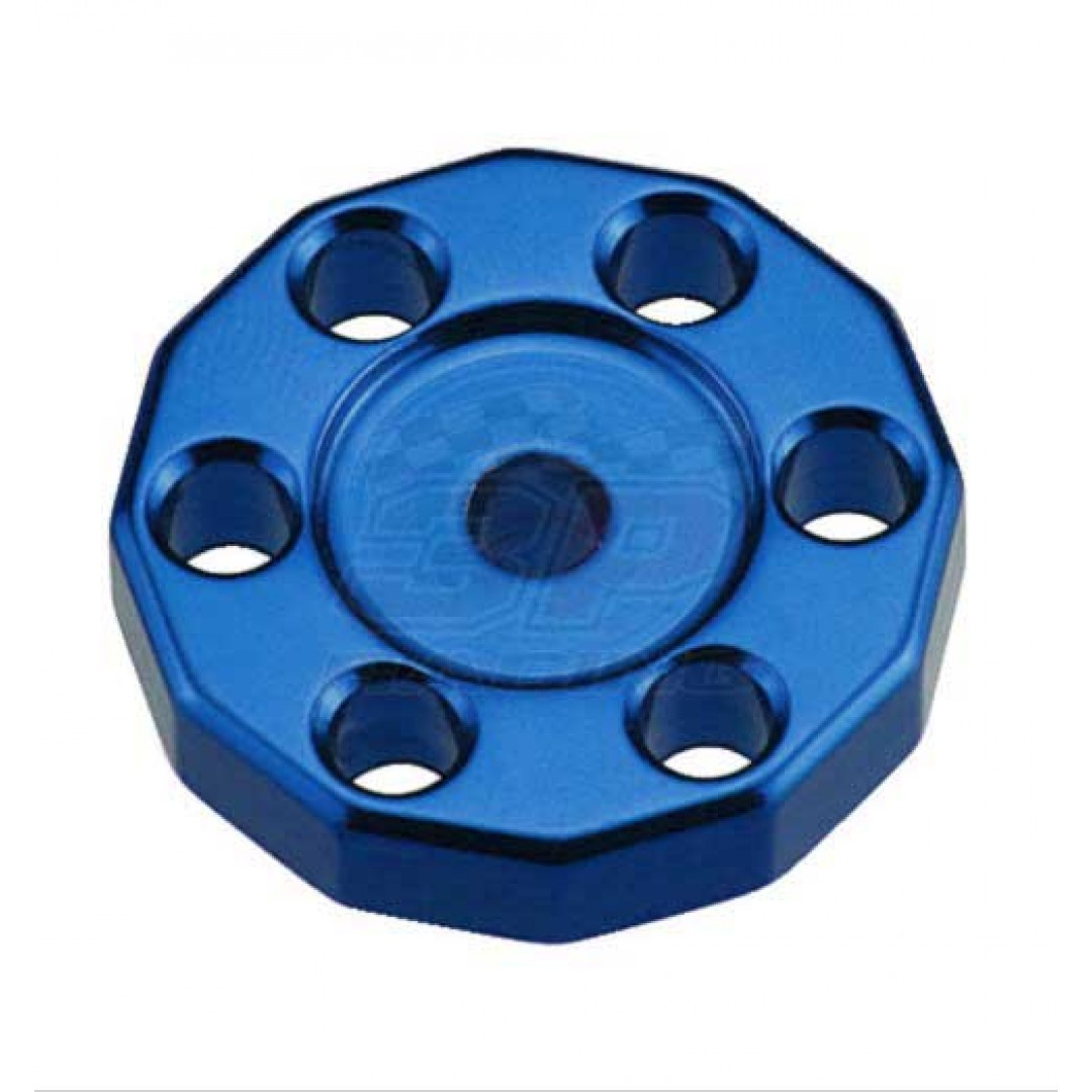 Universal high quality tank fixed spacer for Off-road bikes - Blue. CNC machined. Made from AL6061-T6 aluminum alloy. Color anodized. P/N: AC-TFS-01-BL