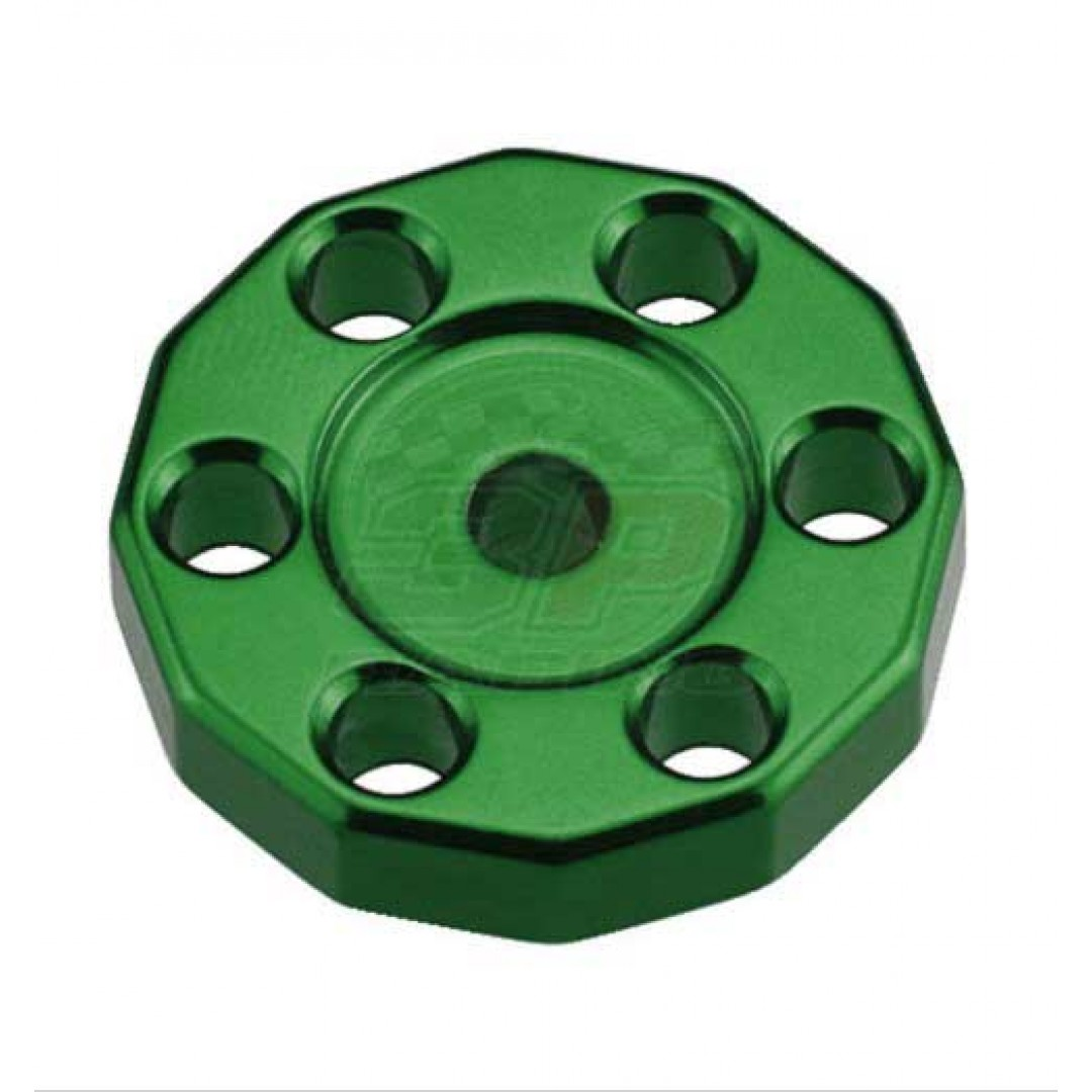 Universal high quality tank fixed spacer for Off-road bikes - Green. CNC machined. Made from AL6061-T6 aluminum alloy. Color anodized. P/N: AC-TFS-01-GR