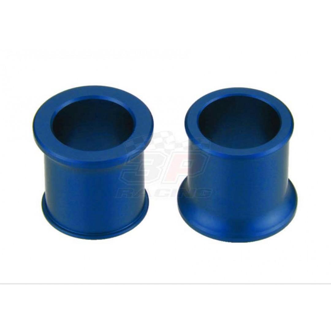 Accel CNC Blue frontwheel spacer kit for Kawasaki KX125, KX250, KX250F KXF250, KX450F KXF450, KLXR450 KLX450R KLX450. Kawasaki OEM 92152-0324 92152-0845. Billet aluminum alloy. Color anodized. P/N: AC-WSF-04-BL