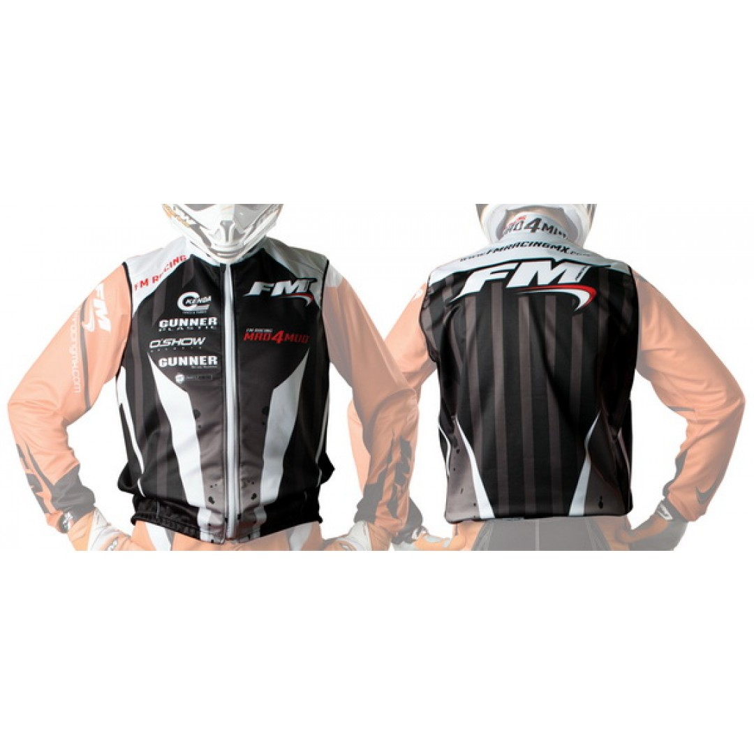 FM Racing enduro windproof gilet Black GI/WIND/G