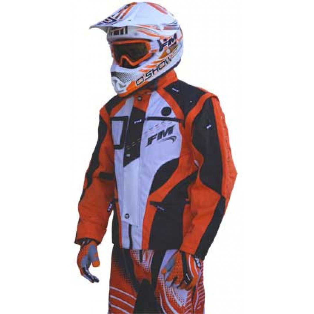 FM Racing enduro jacket X20 Orange GI/009/20