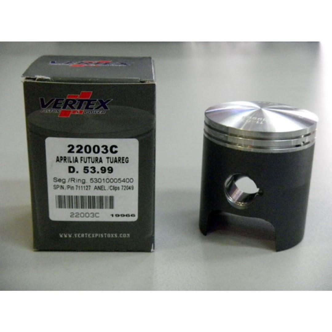 Vertex piston kit for Aprilia 125cc RS125 MX125 SX125 AF-1 125, RX125, RedRose 125, Rally125, Pegaso125 Tuono125 Europa125 .P/N:22003, Diameter: 53.98mm(22003B), 53.99mm(22003C), 54.00mm(22003D), 54.01mm(22003E), 54.02mm(22003F).