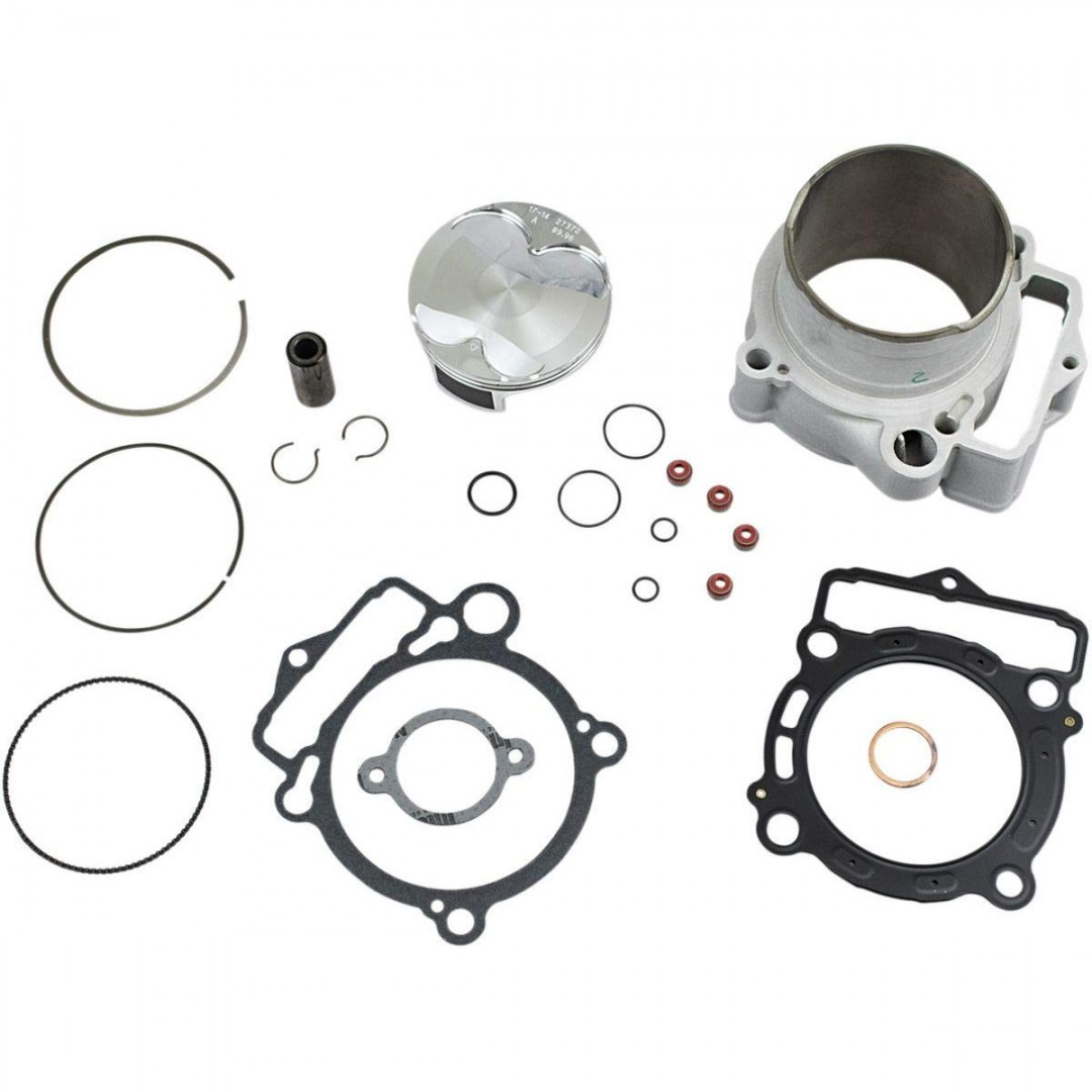 CylinderWorks 51007-K01 BigBore 366cc +2mm Nikasil cylinder kit with overbore piston and top end gasket set 90.00mm diameter for KTM SXF350 SX-F350 SXF 350 EXCF350 EXC-F350 EXCF 350, Husqvarna FE350 FC350 2016 2017 2018 2019. 79230038000, 79230138000