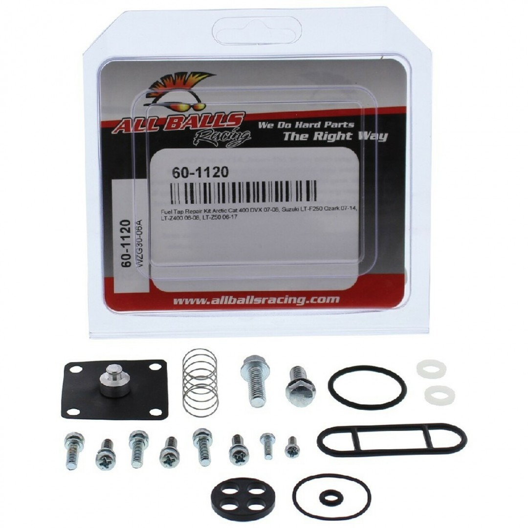 All Balls Racing Fuel Tap Repair kit 60-1120 ATV Arctic Cat DVX 400, Suzuki LT-F 250 Ozark, LT-Z 400, LT-Z 50
