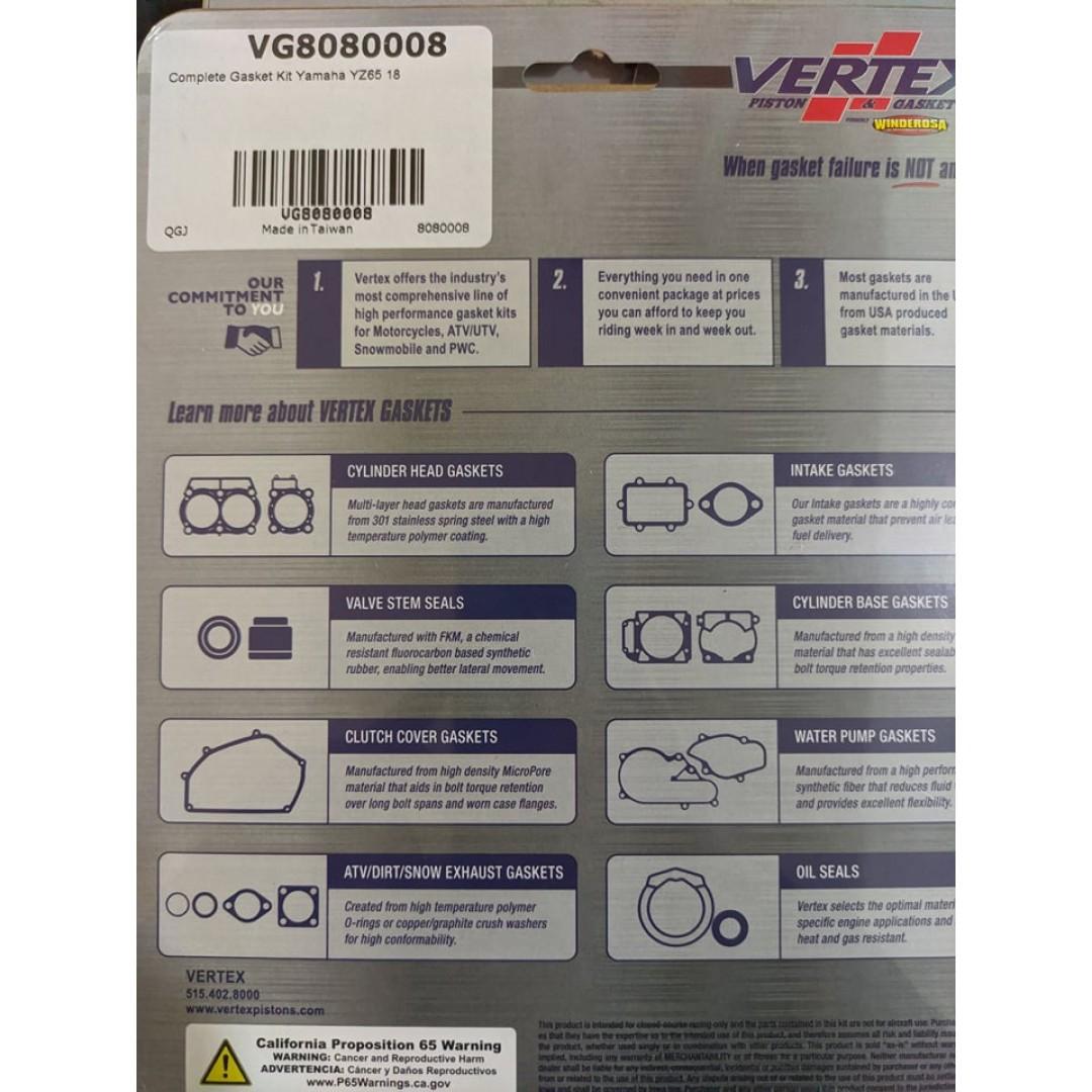 Gaskets Vertex 8080008 Complete Gasket Kit Engine bambamarha.hu